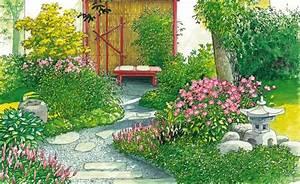 Schöne Gärten Anlegen : garten idyll auf kleinstem raum pflanzplan garten anlegen und sch ne g rten ~ Markanthonyermac.com Haus und Dekorationen