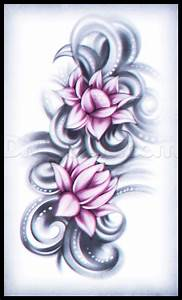 How to Draw a Lotus Flower Tattoo, Step by Step, Tattoos ...