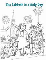 Coloring Pioneer Mormon Lds Template sketch template