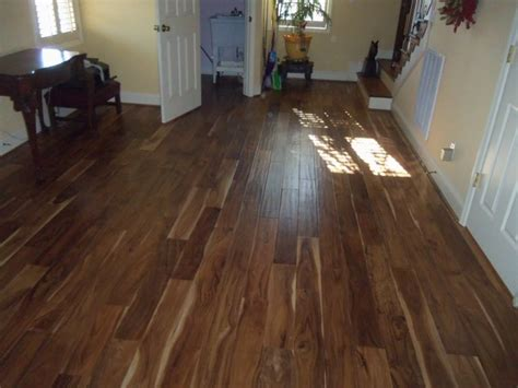 Hand Scraped Acacia Wood Flooring Traditional
