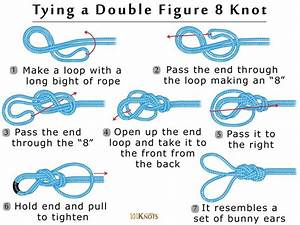 How To Tie A Double Figure 8 Knot  Bunny Ears   Step By