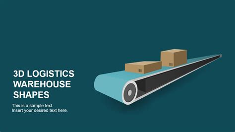 logistics warehouse powerpoint shapes slidemodel