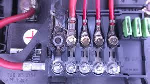 melted battery top fuse box tdiclub forums