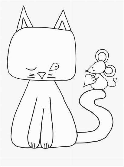 Cat Mouse Digi Stamp Cartoon Clipart Clipartkey
