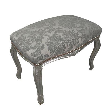 banquette baroque argent 233 e rococo meubles et chaises baroques