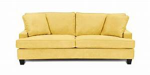 Butter yellow leather sofa sofamoeinfo for Yellow leather sofa bed