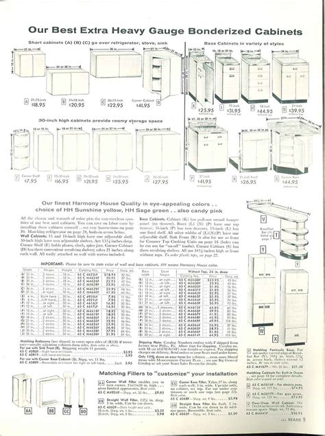 sears kitchen cabinets    page catalog