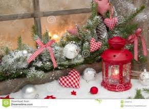 weihnachtsdeko 2015 holz rustic decoration on window sill with checked royalty free stock photo image