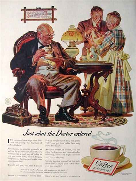 1941 American Coffee Bureau Ad ~ J.C. Leyendecker, Vintage Beverage Ads (Other)