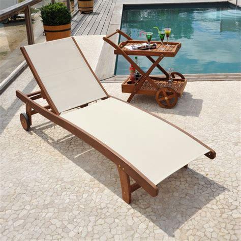 bain de soleil en bois destockage bains de soleil bois et textilene neuf grossiste