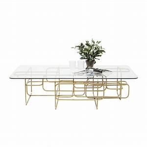 Table Basse Dorée : table basse r tro dor meander kare design ~ Teatrodelosmanantiales.com Idées de Décoration