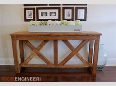 DIY XBrace Console Table Free Plans Rogue Engineer