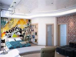 Tapete Jugendzimmer Junge : wandgestaltung im jugendzimmer 35 beispiele und ideen ~ Michelbontemps.com Haus und Dekorationen