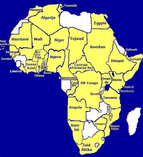 Worldcook's kaart van Afrika