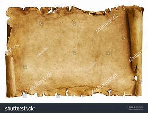 Old Paper Scroll Isolated On White Stock Photo 50375269 ...
