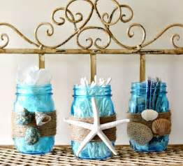 bathroom mason jars beach themed bathrooms and mason jar