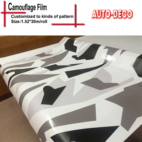 snow camo vinyl for truck vinyl wrap urban arctic camo vinyl car wrapping camouflage glossy