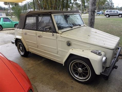 1973 Vw Thing Type 181 Runs And Drives Solid Floors. New