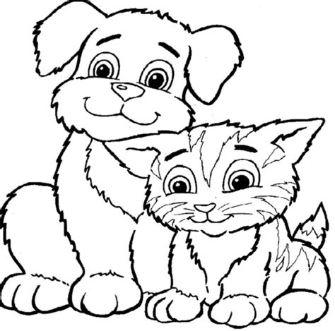 coloring pages dog amp cat coloring pages printable kids