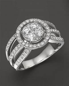 Diamond Ring In 14k White Gold 85 Ct Tw Bloomingdale 39 S