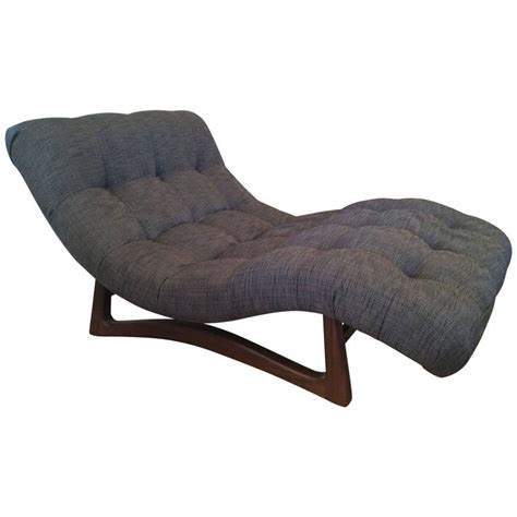 Vintage Adrian Pearsall Curved Chaise Lounge With Walnut