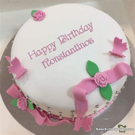 happy birthday konstantinos cakes cards wishes