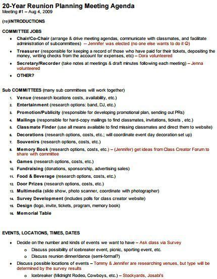 image result  class reunion weekend itinerary letter