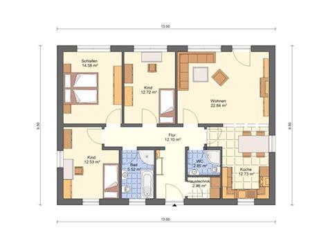 Grundriss Kleiner Bungalow by Bungalow Grundrisse In Massivhaus Ausf 252 Hrung Haus Grundriss