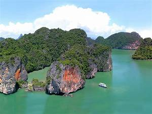 Point Yamu Thailand Beautiful Landscape Rocks And Ocean   Wallpapers13 Com