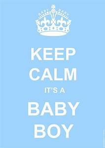 Keep Calm Baby Boy Poster