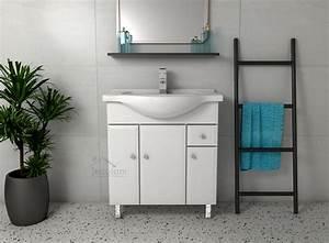 Soft Close Türen : badm bel waschbecken 75 85 cm unterschrank t ren schublade soft close wei dal ebay ~ Buech-reservation.com Haus und Dekorationen