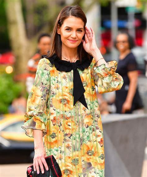 Katie Holmes' New Darker Hair Colour For Spring   My ...