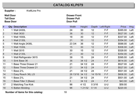 Kitchen Maid Cabinets Price List Myideasbedroom Com