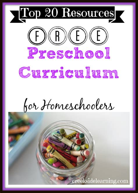 free homeschool preschool curriculum 20 ideas free 389 | Free Preschool Curriculum