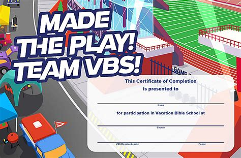 vbs certificate vbs 2018 certificates of completion 50 certificates lifeway
