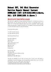 bobcat     mini excavator service repair manual instant