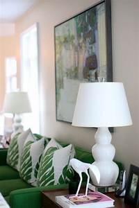 Kelly Green Living Room Contemporary Living Room
