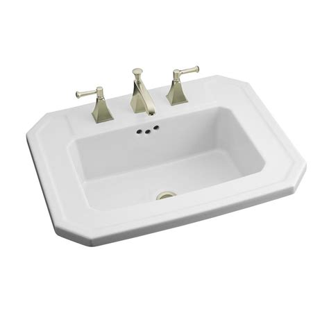 white kitchen sink faucet kohler kathryn drop in vitreous china bathroom sink in