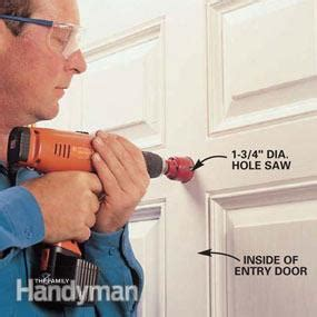 how to install a peephole in a door install a peephole family handyman