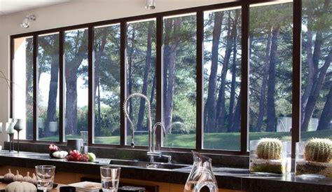baie de cuisine porte vitree cuisine idee amenagement cuisine exterieure