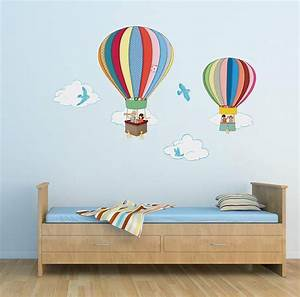 wall decal beautiful hot air balloon wall decals vinyl With beautiful hot air balloon wall decals