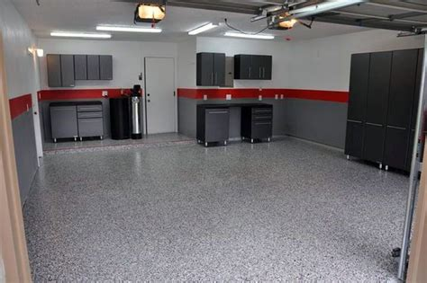 simple and grey paint garage walls with black cabinets garage painted garage
