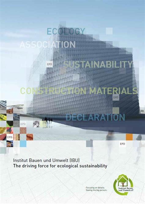 Ibu Institut Bauen Und Umwelt by Publications Institut Bauen Und Umwelt E V