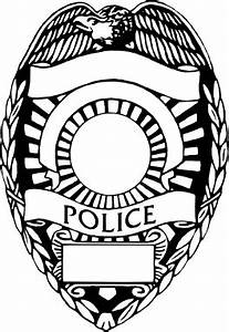 Vector clipart police badge - Pencil and in color vector ...