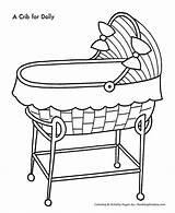 Coloring Pages Christmas Toys Doll Crib Cradle Colouring Template Sheets Sketch Babies Sheet Honkingdonkey Desenhos Clip Popular Meaning Children Fun sketch template