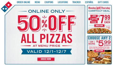 cuisine 馥s 50 deal dominos 50 all menu prices fast food