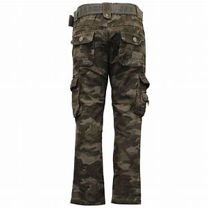 Boys Camouflage Cargo Combat Jeans Kids Military Pants ...