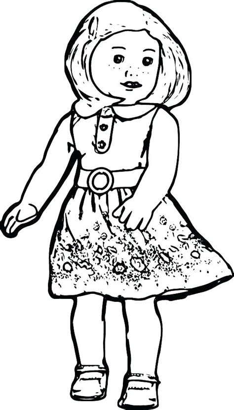 American Girl Coloring Pages Best For Kids Sketch Coloring