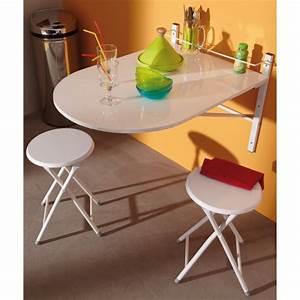 Table Pliable Murale : table murale sinai pliable avec 2 tabourets achat vente table de cuisine table de cuisine ~ Preciouscoupons.com Idées de Décoration