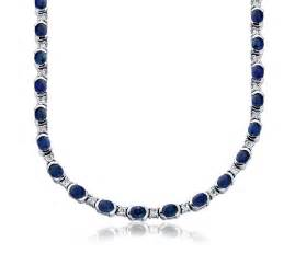 18k white gold engagement ring sapphire and eternity necklace in 18k white gold 5x4mm blue nile